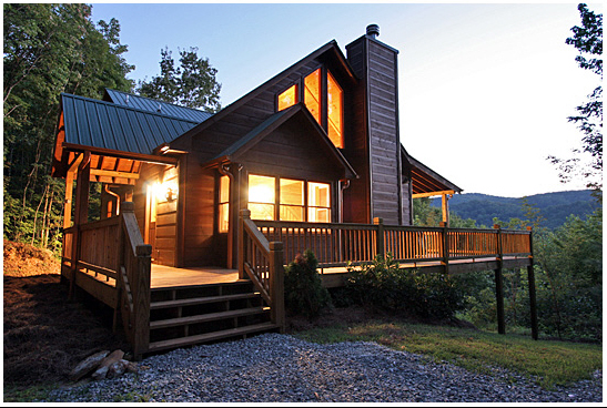 Bushy bear bungalow 3br blue ridge cabin rental with for Bear ridge cabin rentals
