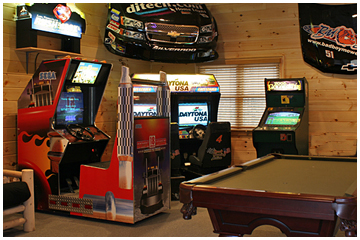 Fish Hook Point Extreme Game Room Cabin Rentals Of